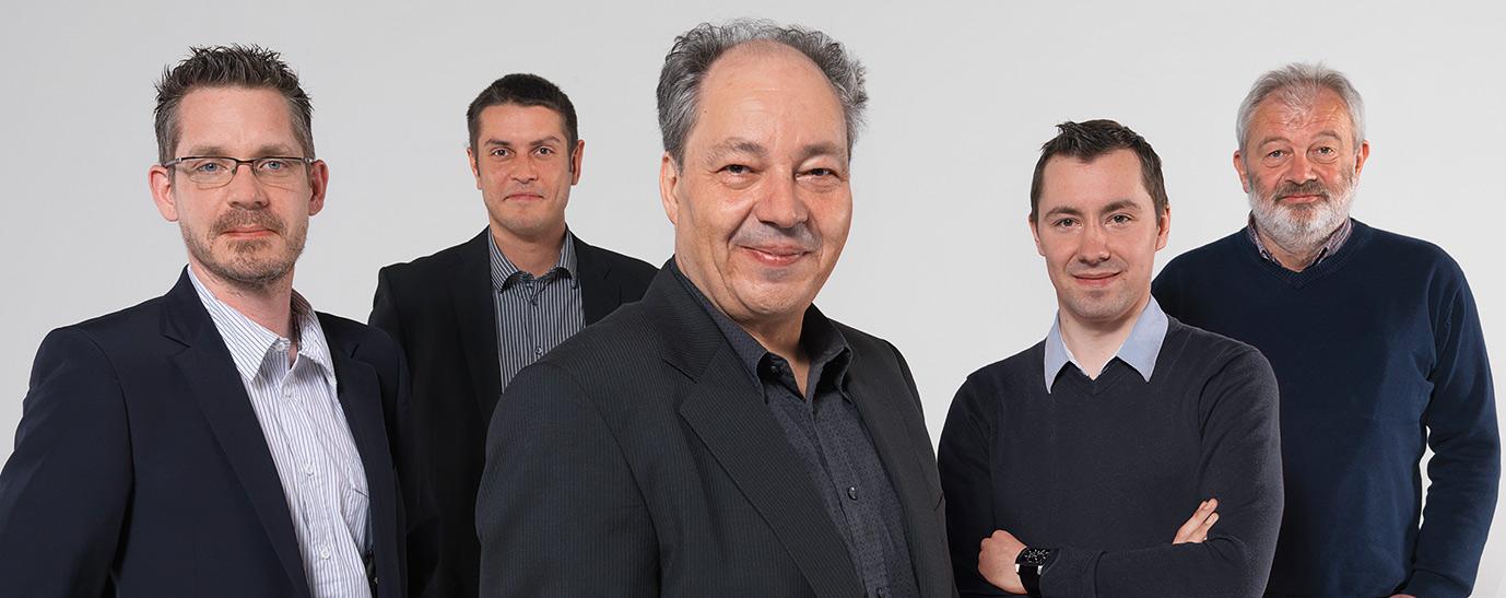 V.l.n.r. Jürgen Brandtmayr, Klaus Zehethofer, DI Ernst Jessl, Andreas Gassner, Siegfried Wegrath.